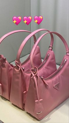 Love this pink colorway! These Prada bags are so cute for Spring 2021 fashion! 💖 Mini Photo, Workout Accessories, Photo Dump, Prada Bag, Cute Bags, Pink Aesthetic, Classy Aesthetic, Princess Aesthetic, Poses