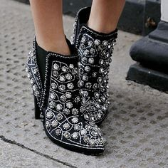 Embellished booties, Topshop.