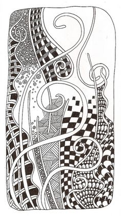 Wavy Gravy color me Zentangle Zentangle Drawings, Doodles Zentangles, Doodle Drawings, Tangle Doodle, Zen Doodle, Doodle Art, Zantangle Art, Zen Art, Doodle Patterns