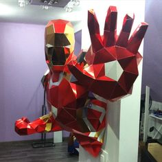 sculpture papier paper pepakura polygone lowpoly iron man mark 43 marvel