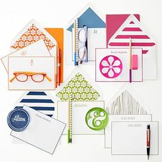 Letterpress Stationery, Set of 50, Stripe #makeyourmark