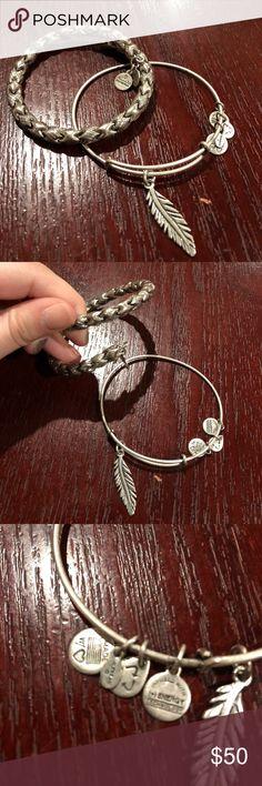 Authentic Alex and Ani Feather Bracelet Set Feather Bracelet Set Authentic Alex and Ani Jewelry Bracelets