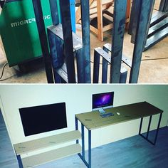 Des pieds de table qui deviendront bientôt un meuble TV sur mesure #agencement #surmesure #fabrication #confieznousvosprojets #diy #mobiliersurmesure #metalbrut