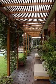 Resultado de imagen para techo de varillas de madera para galeria
