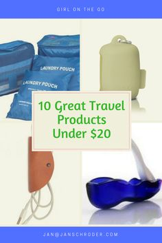 10 best travel products for under $20, from Girl on the Go blog, www.janschroder.com