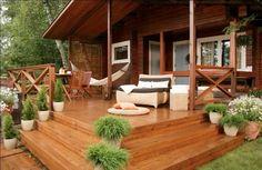 Открытая веранда загородного дома - Дизайн интерьеров | Идеи вашего дома | Lodgers