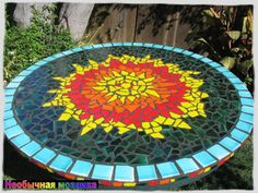 НЕОБЫЧНАЯ МОЗАИКА: За круглым столом. Мозаика