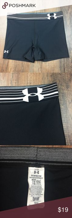 "Under Armour Heat Gear Black Spandex Shorts Under Armour Black Spandex Shorts.  Heat Gear.  Crossfit or fitness Shorts,  excellent condition. 2"" inseam.  A3. Under Armour Shorts"