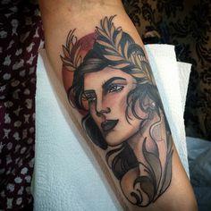 "517 curtidas, 4 comentários - Monique Peres (@moniqueperes) no Instagram: ""Done yesterday ️At Tattoo week SP!!! Goddess Deméter!!🌾"""