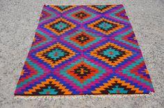 VINTAGE Turkish Classic Antalya Kilim Rug Carpet by TurkishKilim, $785.00