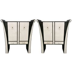 1stdibs   Beautiful Art Deco Pair of Sideboards