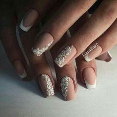 Nail art nailz nails, nails 2016 ve bridal nails Nail Art Design Gallery, Best Nail Art Designs, Bridal Nails, Wedding Nails, Pretty Nails, Fun Nails, Nails 2016, Lace Nails, Lace Nail Art