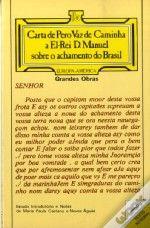 Carta de P�ro Vaz de Caminha a El-Rei D. Manuel sobre o Achamento do Brasil