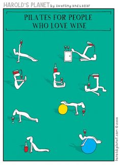 After the yoga, pilates for #wine lovers!
