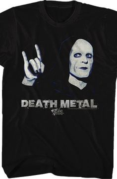 Bill and Ted Death Metal T-Shirt This men's fashion is designed from the popular Bill and Ted' Bogus Journey film.