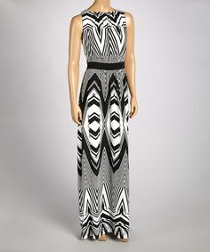 Another great find on #zulily! Black & White Dress by Sangria #zulilyfinds