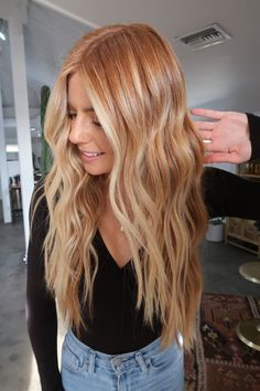 Strawberry Blonde Hair Color, Red Blonde Hair, Blonde Hair Looks, Blonde Hair With Highlights, Strawberry Blonde With Highlights, Stawberry Blonde, Copper Blonde Hair Color, Black Hair, Brown Hair