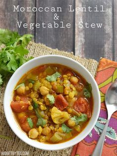 Moroccan Lentil and Vegetable Stew - Budget Bytes