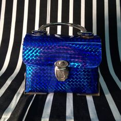 SALE 90s blue holographic mini purse by TheCosmicCircle on Etsy