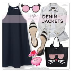 """""""Denim Jackets"""" by monica-dick ❤ liked on Polyvore featuring MANGO, Versace, Spektre, Vision, Karl Lagerfeld, Marc Jacobs, H&M, denimjackets and WardrobeStaples"""