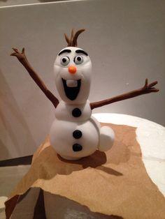 Olaf fondant Homemade Cakes, Olaf, Fondant, Icing, Snowman, Disney Characters, Fictional Characters, Art, Art Background
