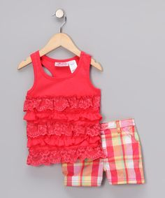 Red Ruffle Tank & Shorts - Infant & Toddler  $14.99