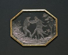 Plaque with Hercules and Achelous - ca. 1560-1570 (Renaissance) - rock crystal, enamel, and gold