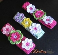 This listing is for a crocheted/Knitted baby flower headband PATTERN. The knitted headband and flower patterns are included. This pattern is for all