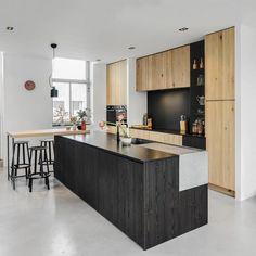 Kitchen Niches: 60 Creative Ideas in Decorating - Home Fashion Trend Small American Kitchens, Kitchen Knobs, Hidden Kitchen, Bathroom Niche, Home Board, Kitchen Styling, Kitchen Interior, Glass Door, Interior Inspiration