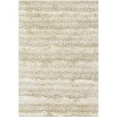 LR // AllModern Kappa White Rug - I like the idea of a shag with a subtle pattern like this stripe