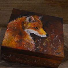 Ręcznie malowana szkatułka