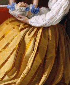 """""""Sujet de Conversation"""" (Détail) Lily Martin Spencer . 1852"""
