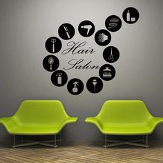 Wall decal decor decals art hair salon by DecorWallDecals on Etsy, $28.99