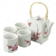 Buy Japanese Sakura Flower Tea Set with Unique Design Japanese Tea Set, Tea Quotes, Tea Pot Set, Flower Tea, Serveware, Tableware, Tea Cups, Beverage, Flowers