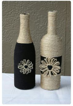 Wrap juice bottles in colors to match her room & embellish with contrasting flowers. She's so grown anyway.