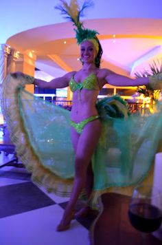 Dancer at our hotel, The Royal Inn Cancun. Each night there are dancers or music.