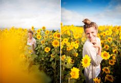B : North Shore Sunflower Fields Sunflower Field Photography, Summer Photography, Senior Photography, Portrait Photography, Nature Photography, Sunflower Feild, Senior Picture Outfits, Senior Pics, Unique Senior Pictures