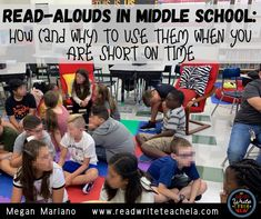 Read-Alouds in Middle School: How (and Why) to Use Them When You're Short on Time 8th Grade Ela, 6th Grade Reading, Teaching 5th Grade, English Language, Language Arts, Vocabulary Practice, Middle School Teachers, Mentor Texts, Writing Resources