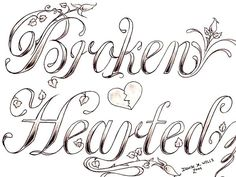 drawn vines in hearts | broken hearted 30 Mind Blowing Tattoo Sketches