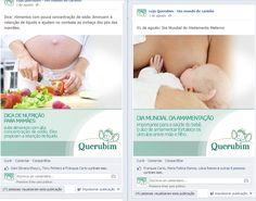 Facebook da loja de artigos infantis Querubim em Itabuna-BA. Criação da redação e dos textos das postagens.