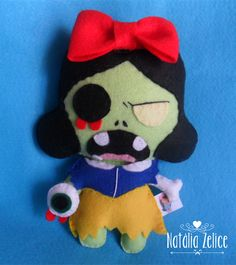 Natália Zelice Artes em Feltro: Toy Art Zumbis: Branca de Neve / Hello Kitty…