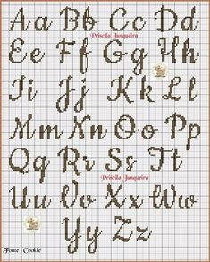 broderie - Page 2 - Cross Stitch Cross Stitch Letter Patterns, Cross Stitch Letters, Cross Stitch Designs, Stitch Patterns, Cross Stitch Font, Loom Patterns, Simple Cross Stitch, Cross Stitch Baby, Cross Stitch Charts