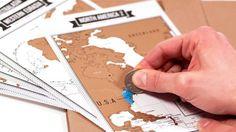 Diario de viaje con mapas de rascar. Imprescindible 1 http://www.factoriaderegalos.com/