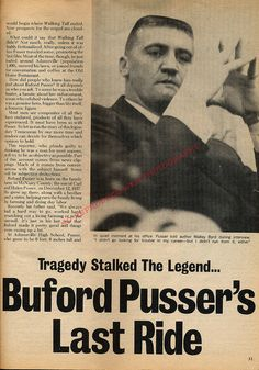 Buford and Pauline Pusser Ambushed Political Memes, Politics, Dixie Mafia, Joe Don Baker, Walking Tall, Newspaper Headlines, Hero Movie, Old Magazines, True Crime