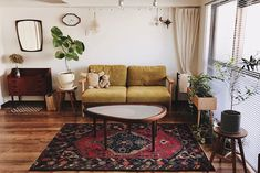 Bohemian Living Rooms, Eclectic Living Room, Living Room Interior, Home Living Room, Room Ideas Bedroom, Bedroom Decor, Room Inspiration, Interior Inspiration, Retro Apartment