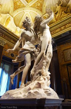 Apollo and Daphne by Gian Lorenzo Bernini. The Museo Borghese, Roma, Italy. http://victortravelblog.com/2015/04/07/museo-borghese-roma-concentration-beauty/