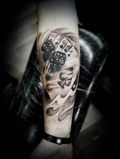 Tattoo cards and dice in 3D   #Tattoo, #Tattooed, #Tattoos                                                                                                                                                                                 More