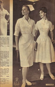 Stylish nursing uniforms from Sears catalog