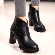 Autumn Winter Ankle Boots New Fashion Cut-Outs Platform Women Boots Sexy High Heels Casual Pumps Ladies Shoes Woman Boots 2015