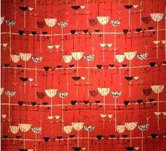 Textile Designers Blog:  Marian Mahler linear Flowers 1953